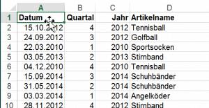 Praxistipp Excel - Springen mit der Maus