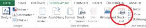 Praxistipp Excel Drucktitel.